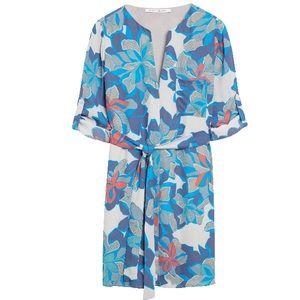 Janel V-Neck Shirt Dress with Belt